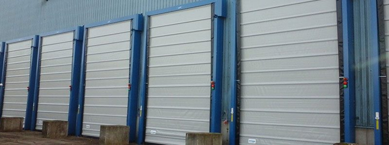 Porte souple à empilage et enroulement en aluminium